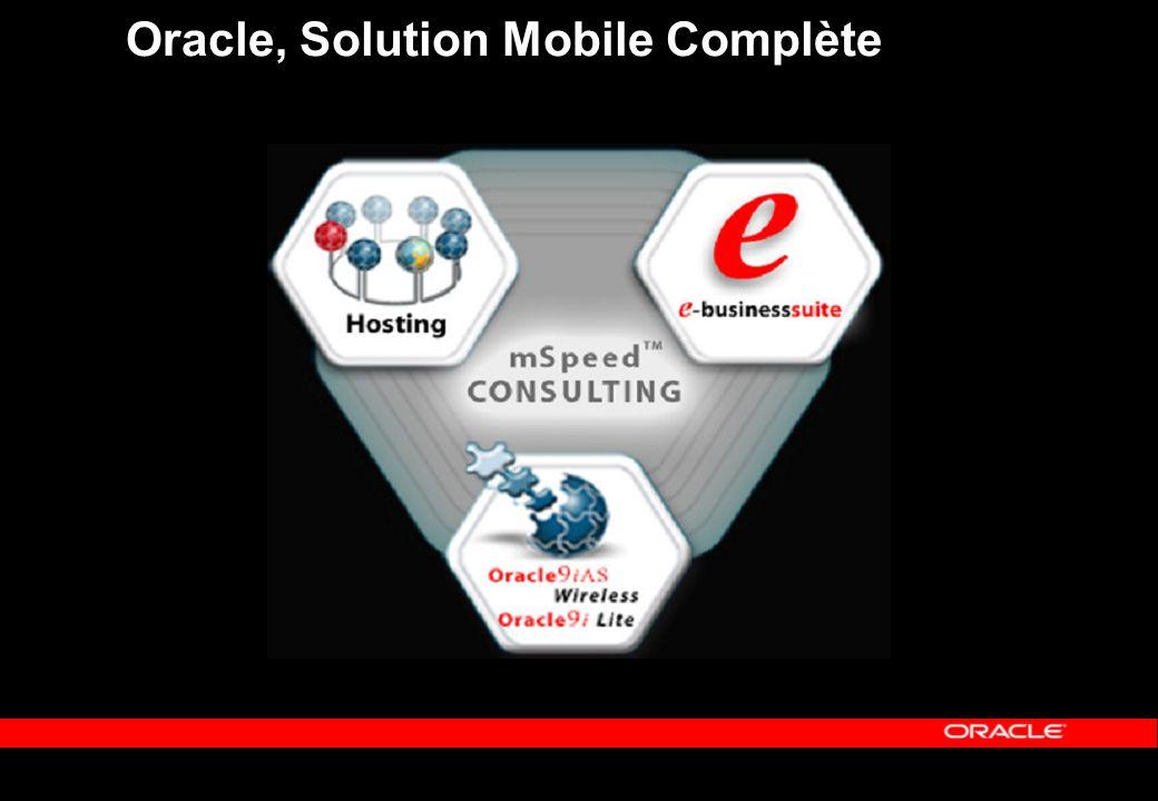 Oracle, Leader dans la mobilité Positionné N°1 par les 3 grands analystes Giga Group Gartner Group IDC