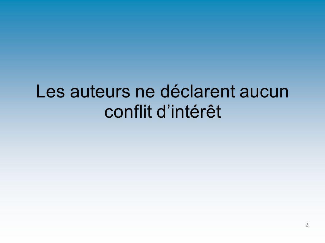 Les auteurs ne déclarent aucun conflit dintérêt 2