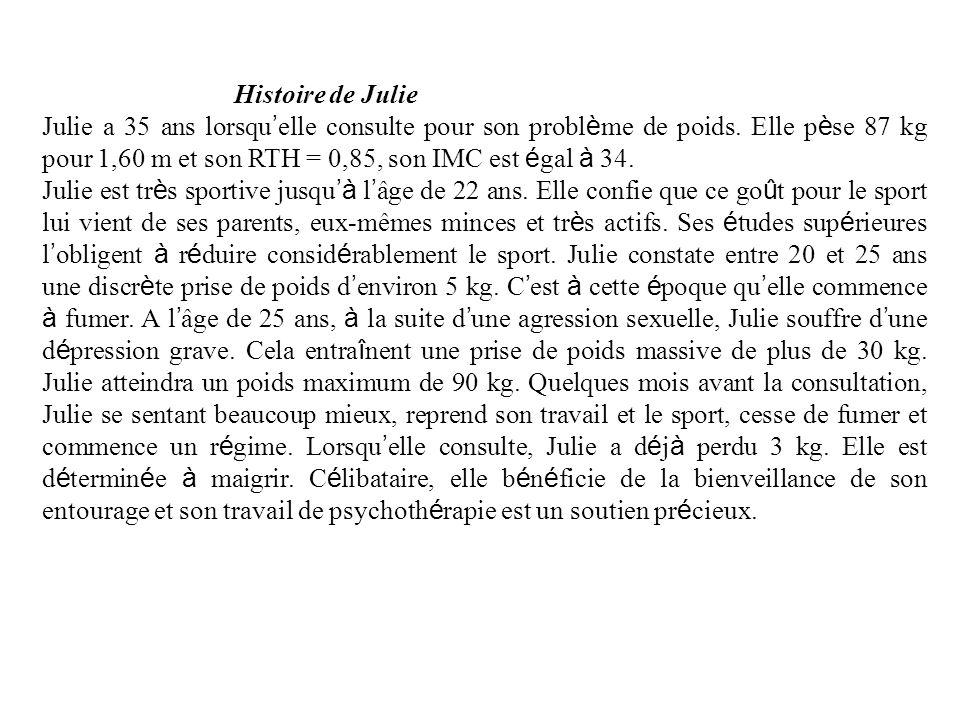 Histoire de Julie Julie a 35 ans lorsqu elle consulte pour son probl è me de poids.