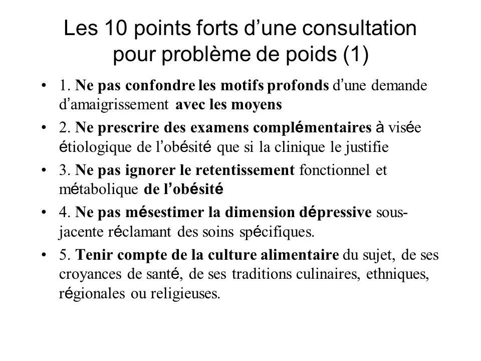 Les 10 points forts dune consultation pour problème de poids (1) 1.