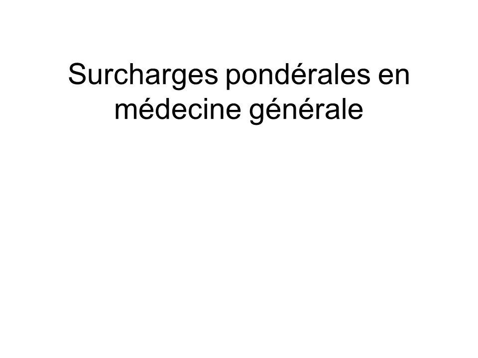 Surcharges pondérales en médecine générale