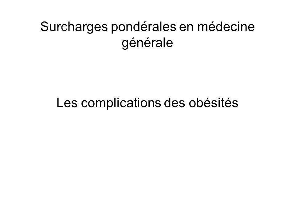 Surcharges pondérales en médecine générale Les complications des obésités