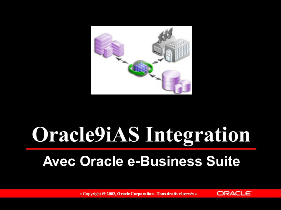 « Copyright 2002, Oracle Corporation. Tous droits réservés » Oracle9iAS Integration Avec Oracle e-Business Suite