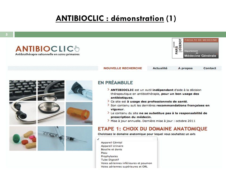 ANTIBIOCLIC : démonstration (2) 6