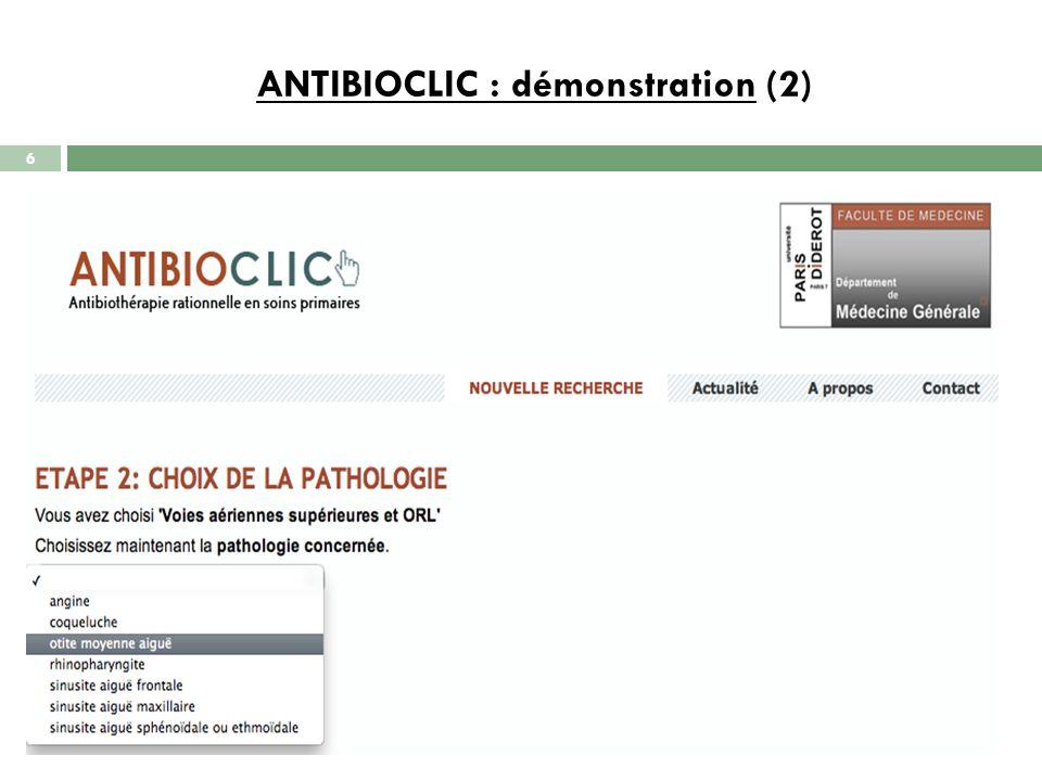 ANTIBIOCLIC : démonstration (3) 7