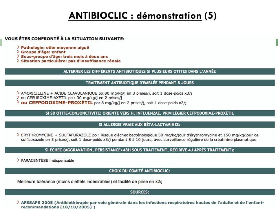 ANTIBIOCLIC : démonstration (5) 9