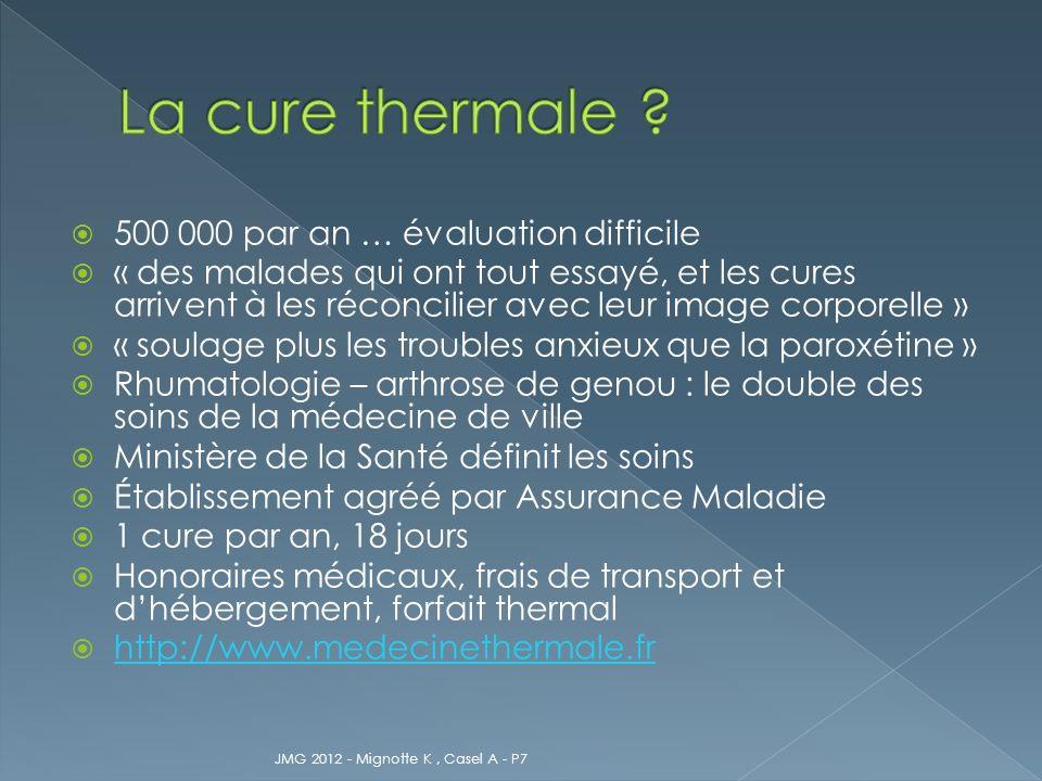 Formulaire de demande de prise en charge Le patient prend contact avec létablissement Accord Assurance Maladie JMG 2012 - Mignotte K, Casel A - P7