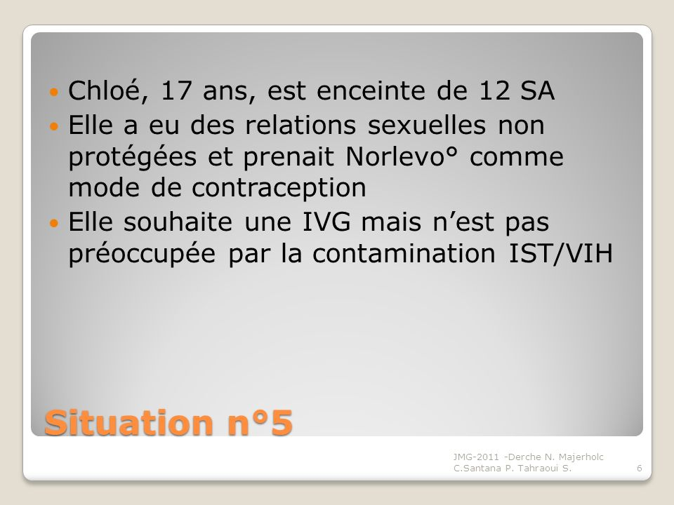 Situation n°6 Mme B.