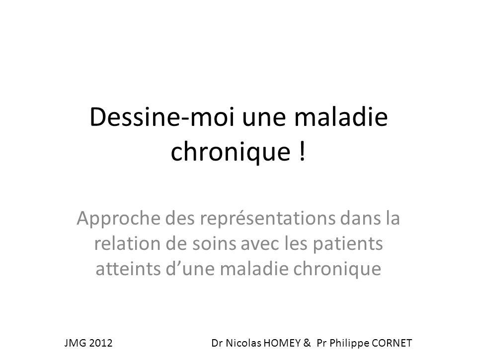 Dessine-moi une maladie chronique ! Approche des représentations dans la relation de soins avec les patients atteints dune maladie chronique JMG 2012