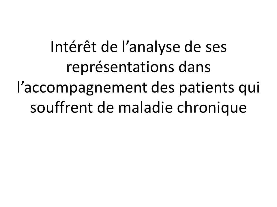 Intérêt de lanalyse de ses représentations dans laccompagnement des patients qui souffrent de maladie chronique
