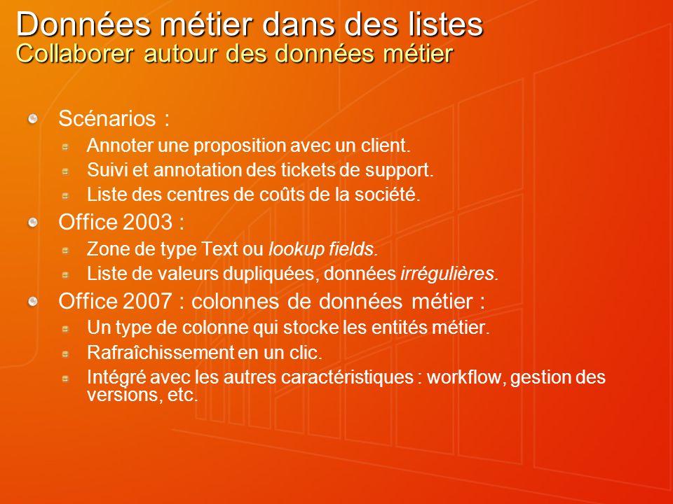 Actions sur les entités métier Lier, ne pas répliquer Scénario : Affichage de données clients SAP.