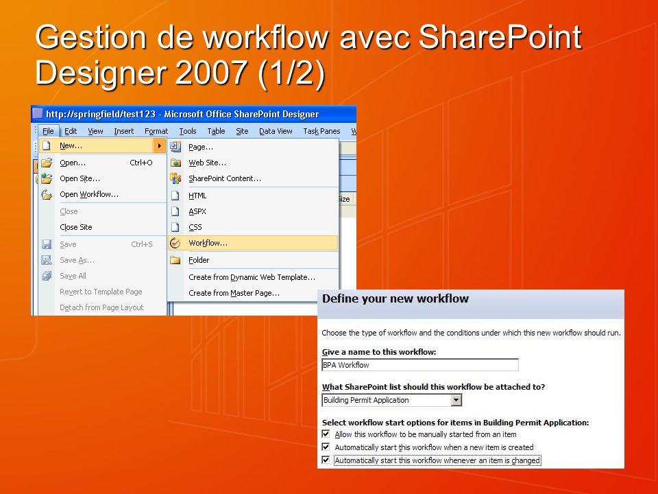 Gestion de workflow avec SharePoint Designer 2007 (1/2)