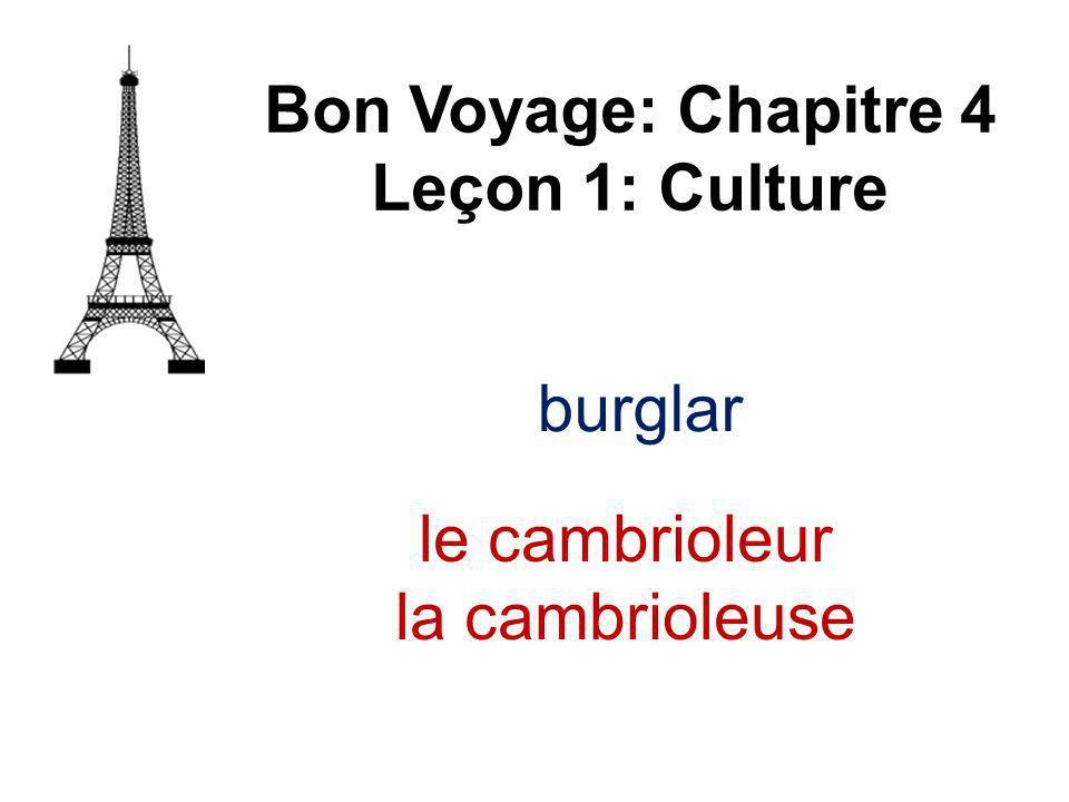 burglar Bon Voyage: Chapitre 4 Leçon 1: Culture le cambrioleur la cambrioleuse