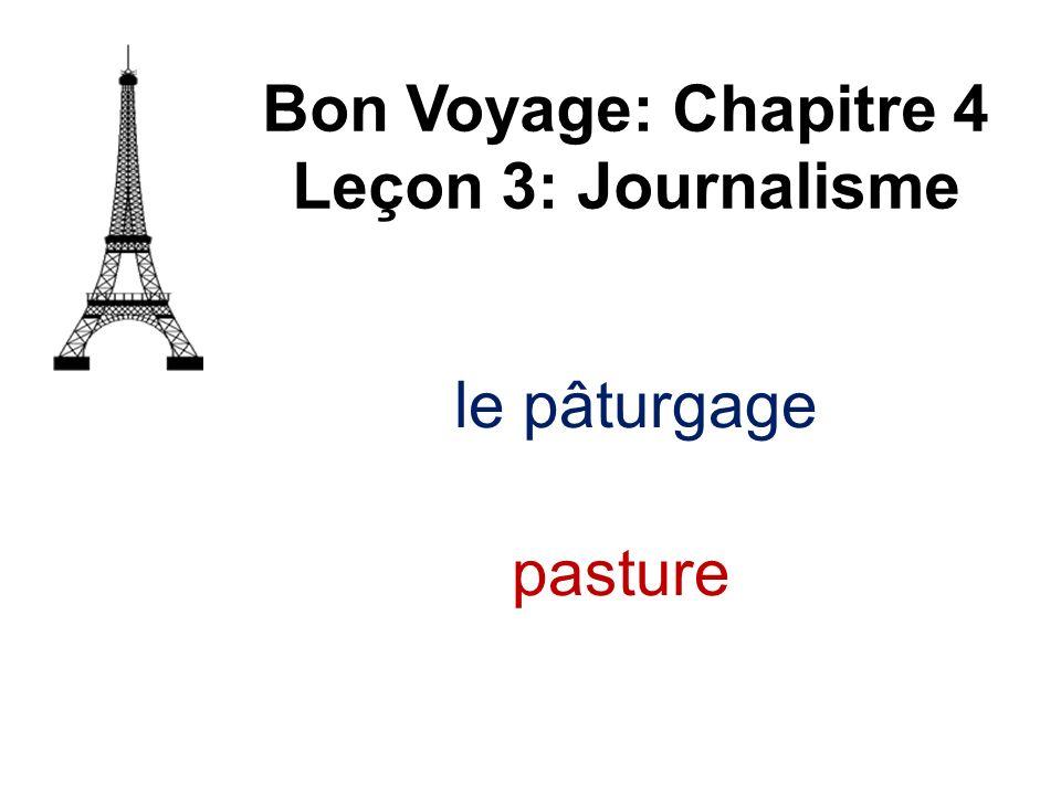 le pâturgage Bon Voyage: Chapitre 4 Leçon 3: Journalisme pasture