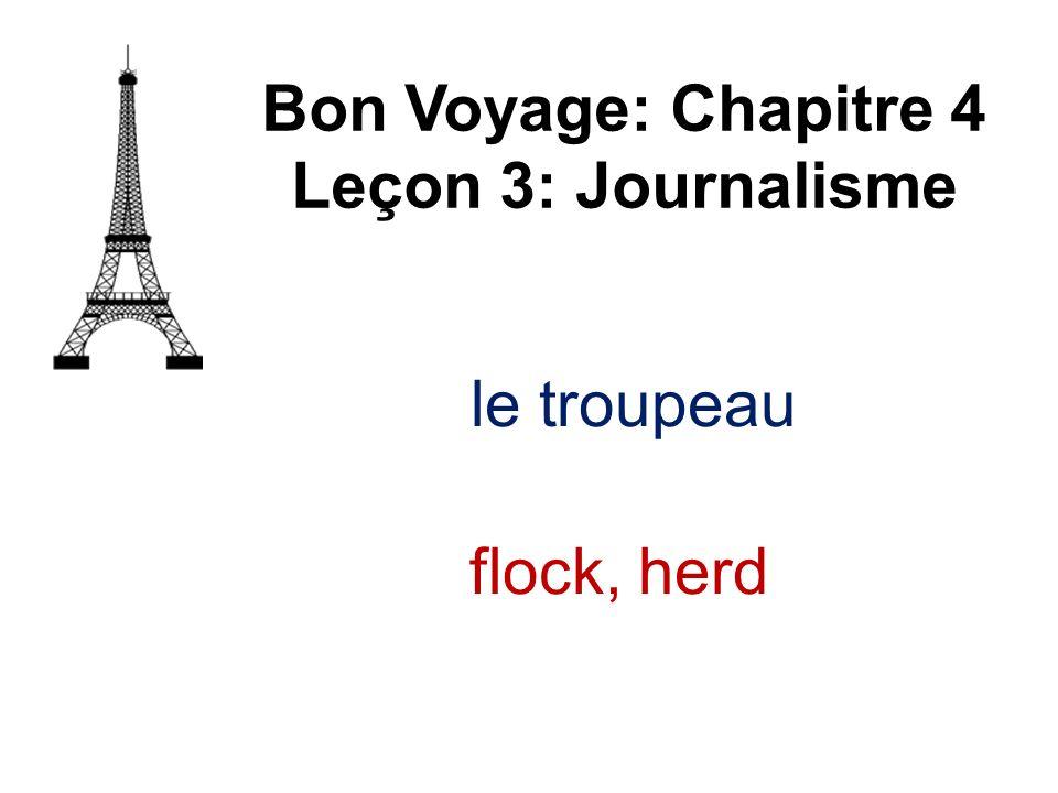 le troupeau Bon Voyage: Chapitre 4 Leçon 3: Journalisme flock, herd