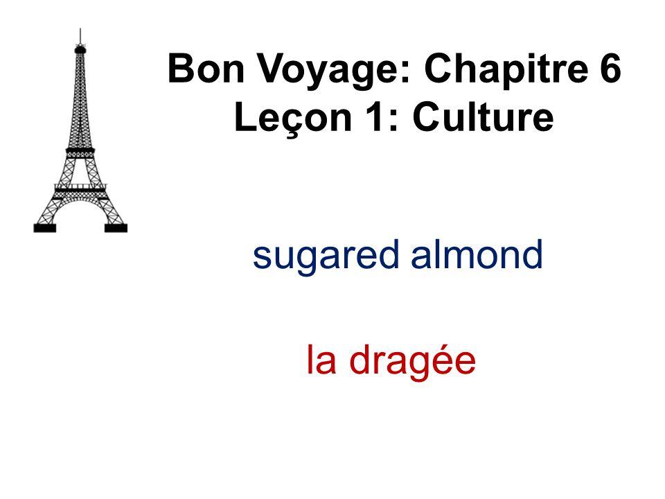 Bon Voyage: Chapitre 6 Leçon 1: Culture la dragée