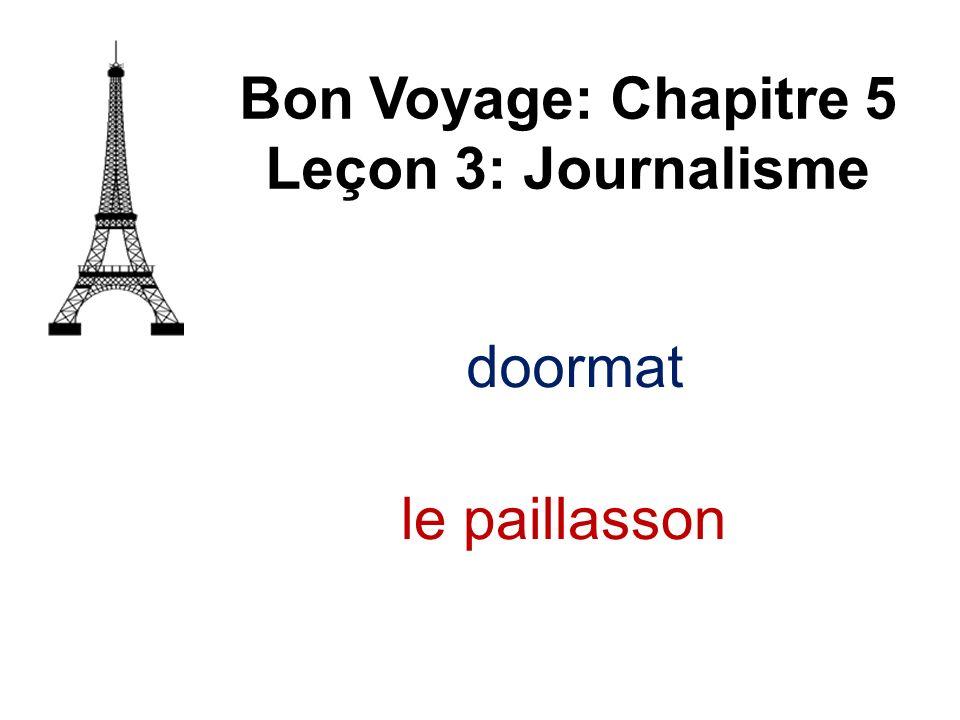 Bon Voyage: Chapitre 5 Leçon 3: Journalisme le paillasson