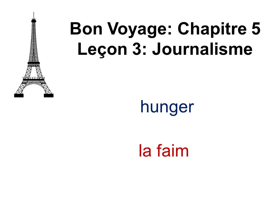 la bague Bon Voyage: Chapitre 5 Leçon 3: Journalisme ring