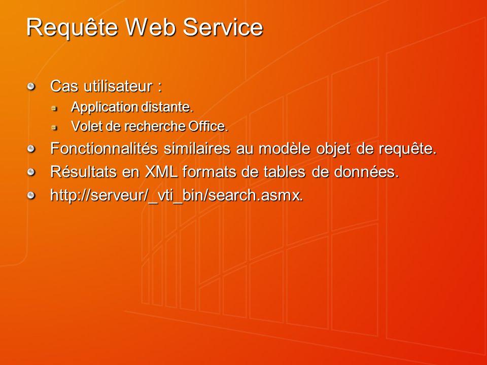 Requête Web Service Cas utilisateur : Application distante.