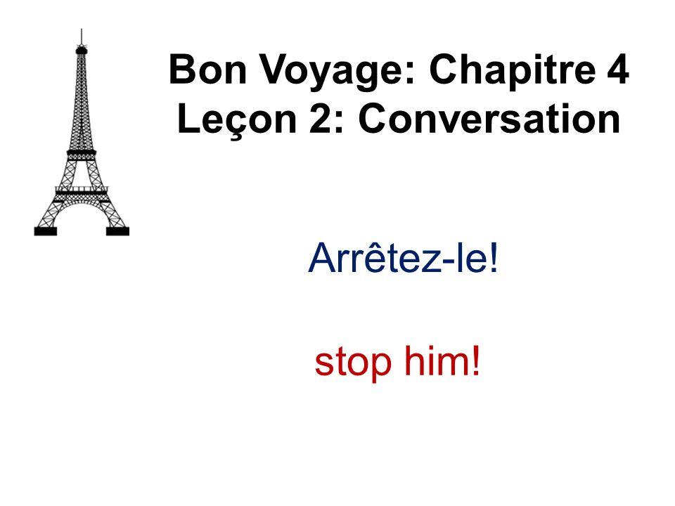 Arrêtez-le! Bon Voyage: Chapitre 4 Leçon 2: Conversation stop him!