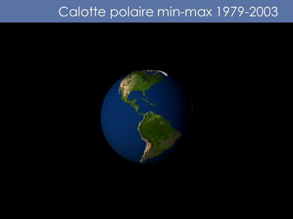 Calotte polaire min-max 1979-2003