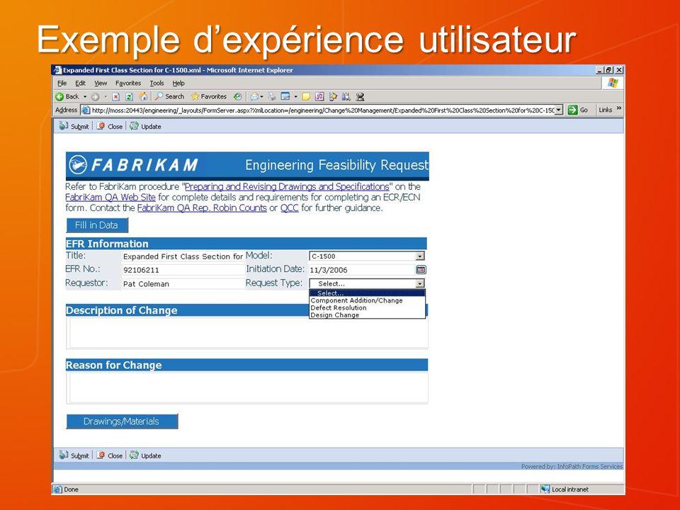 Exemple dexpérience utilisateur