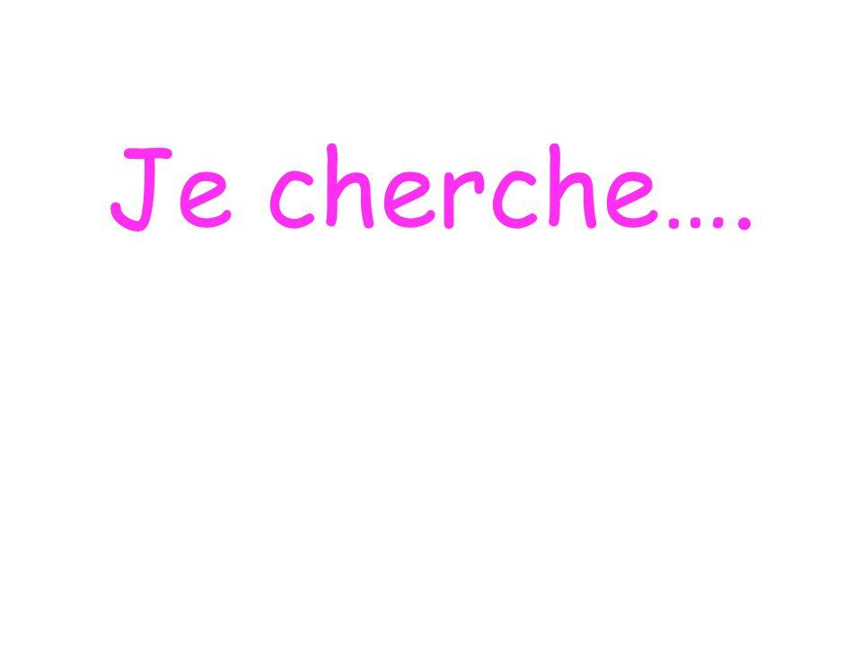 Je cherche….