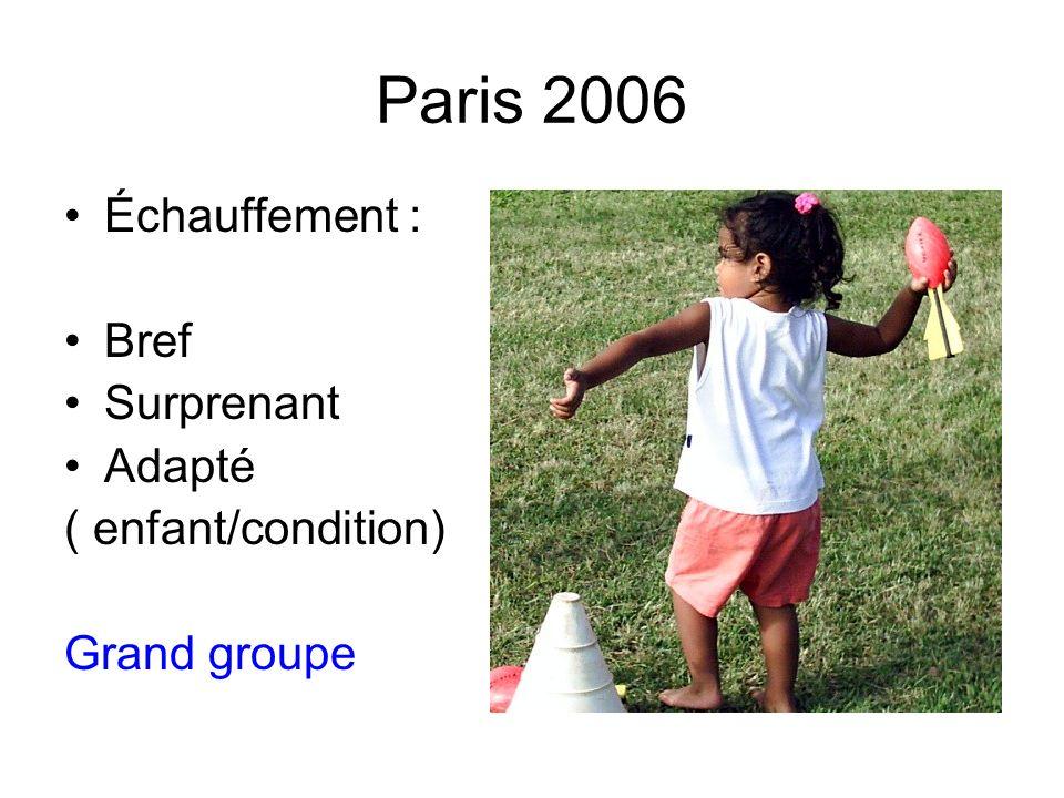 Échauffement : Bref Surprenant Adapté ( enfant/condition) Grand groupe