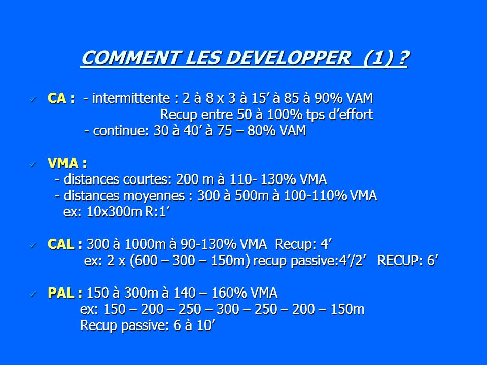 COMMENT LES DEVELOPPER (2) .
