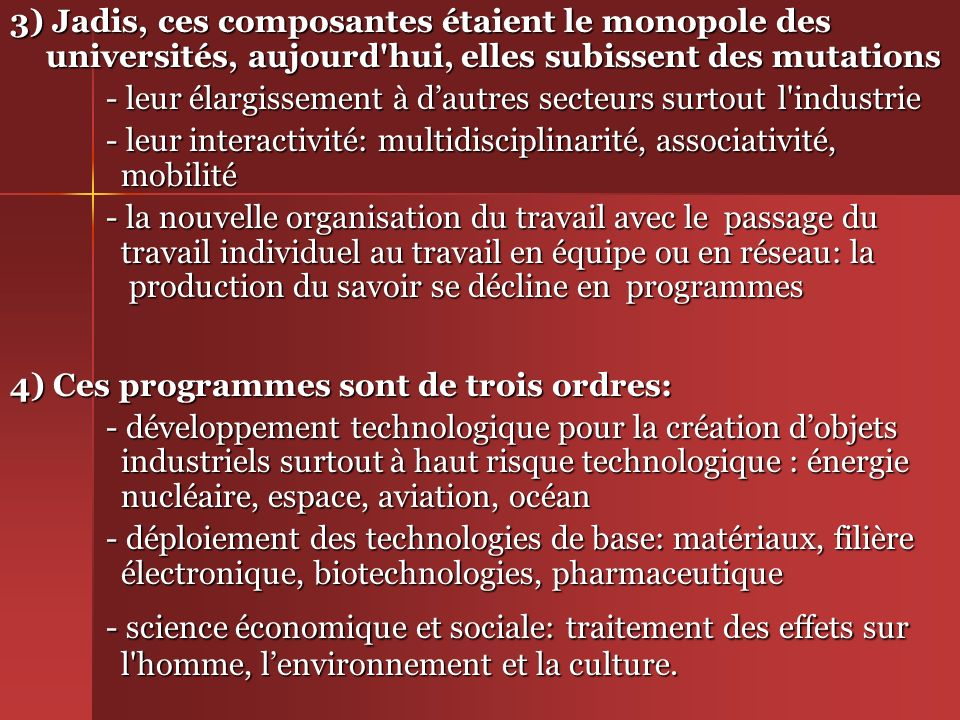 III/ Mondialisation et Renouveau des politiques de Recherche - développement.