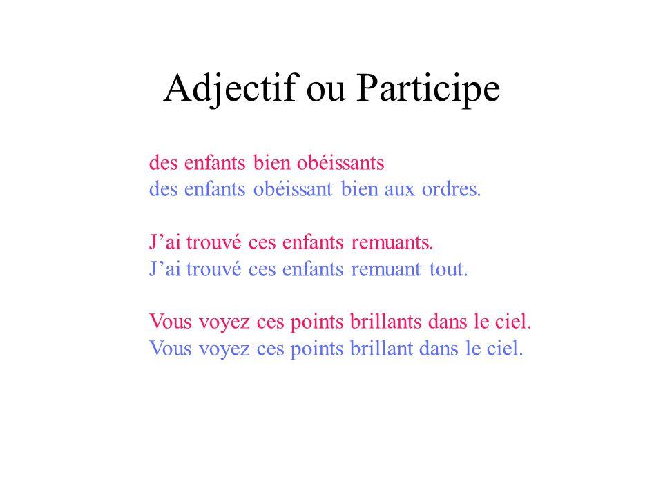 Exercice: Participe présent Réfaire les phrases en utilisant le Participe présent.