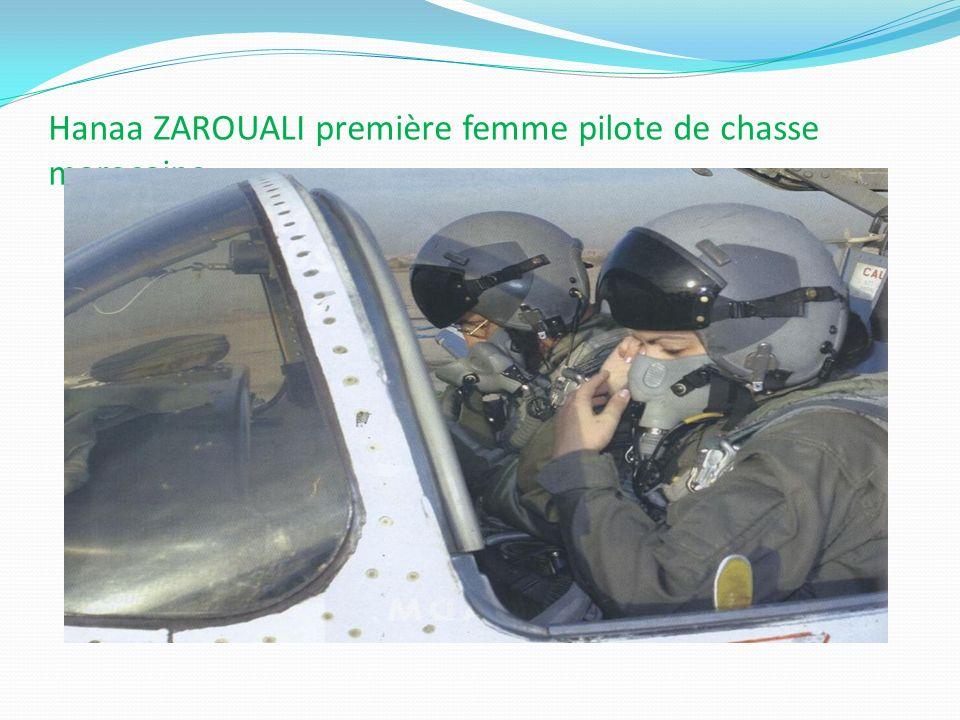 Hanaa ZAROUALI première femme pilote de chasse marocaine