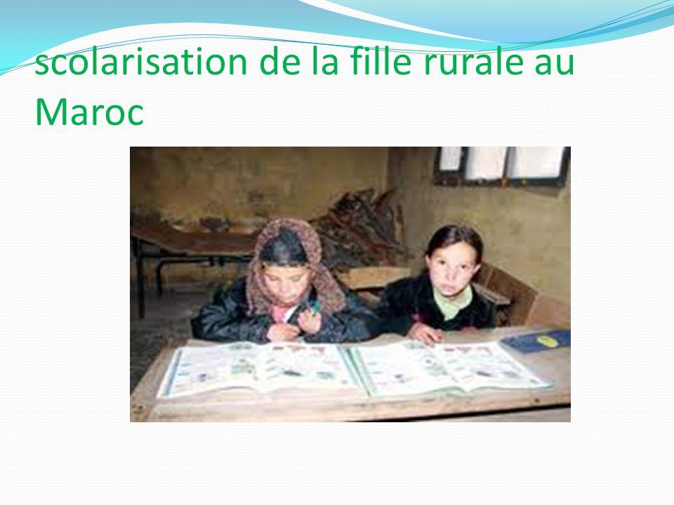 scolarisation de la fille rurale au Maroc