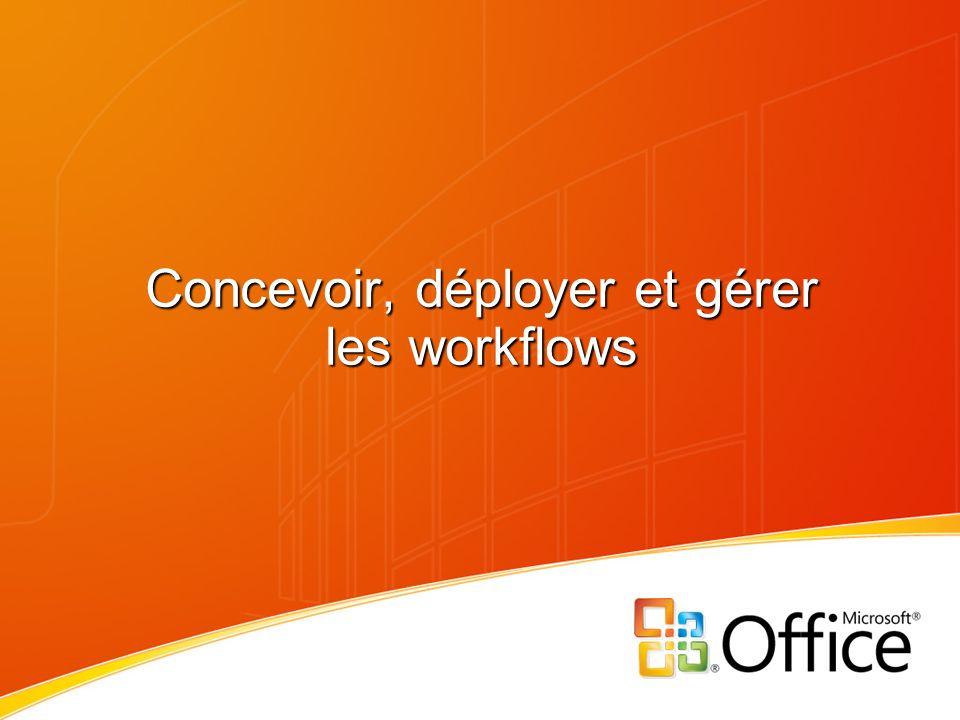 Sommaire Vision du workflow dans Office Hébergement du workflow dans Office Experience utilisateur final Outils de conception et de développement des workflows Questions