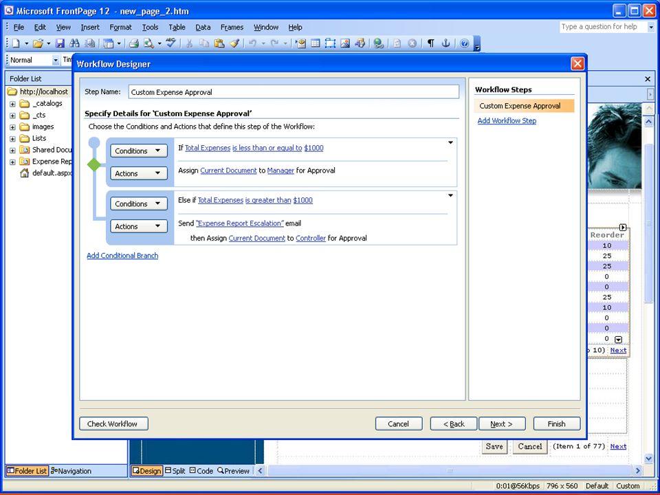 Conception de workflow sous Visual Studio