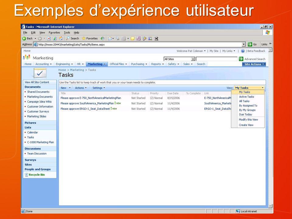 Exemples dexpérience utilisateur (2)