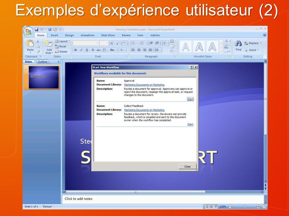 Administration de workflow Application Web : On/off sur les workflows SharePoint Designer.