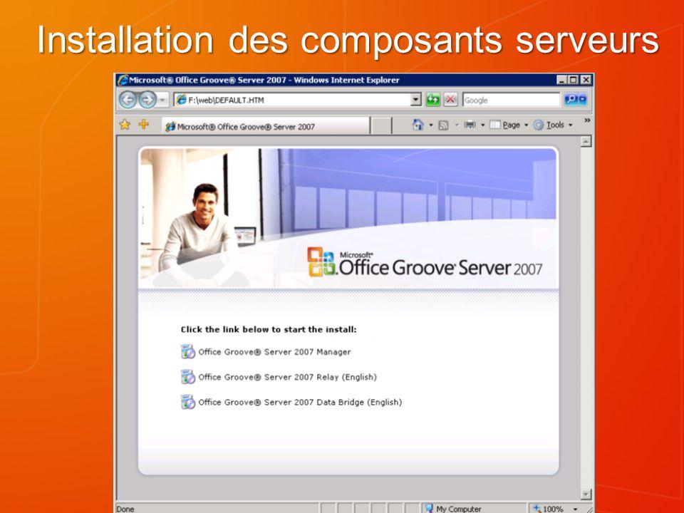 Installation des composants serveurs