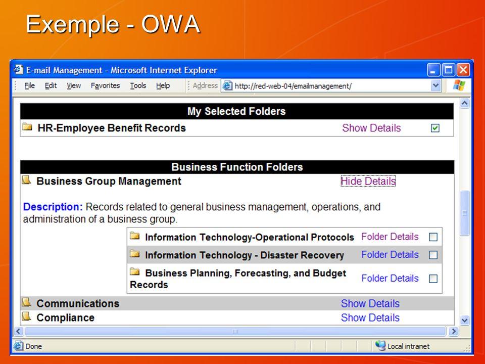 Exemple - OWA
