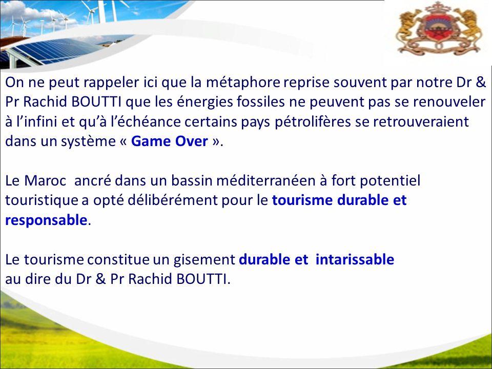 On ne peut rappeler ici que la métaphore reprise souvent par notre Dr & Pr Rachid BOUTTI que les énergies fossiles ne peuvent pas se renouveler à linfini et quà léchéance certains pays pétrolifères se retrouveraient dans un système « Game Over ».
