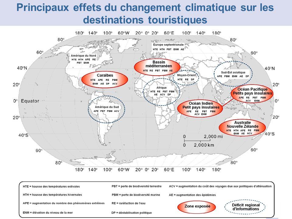Principaux effets du changement climatique sur les destinations touristiques