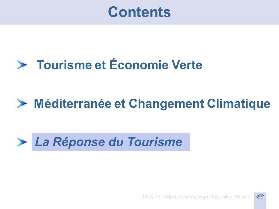 Tourisme et Économie Verte Méditerranée et Changement Climatique La Réponse du Tourisme Contents