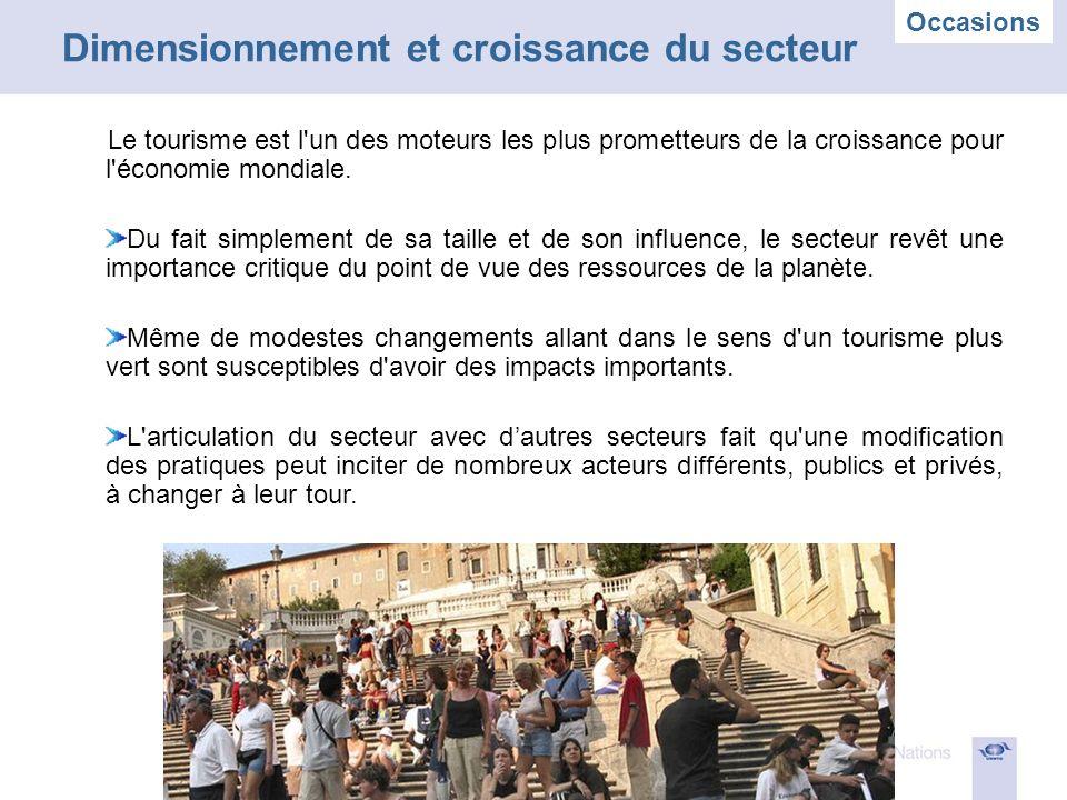 Le tourisme est l un des moteurs les plus prometteurs de la croissance pour l économie mondiale.