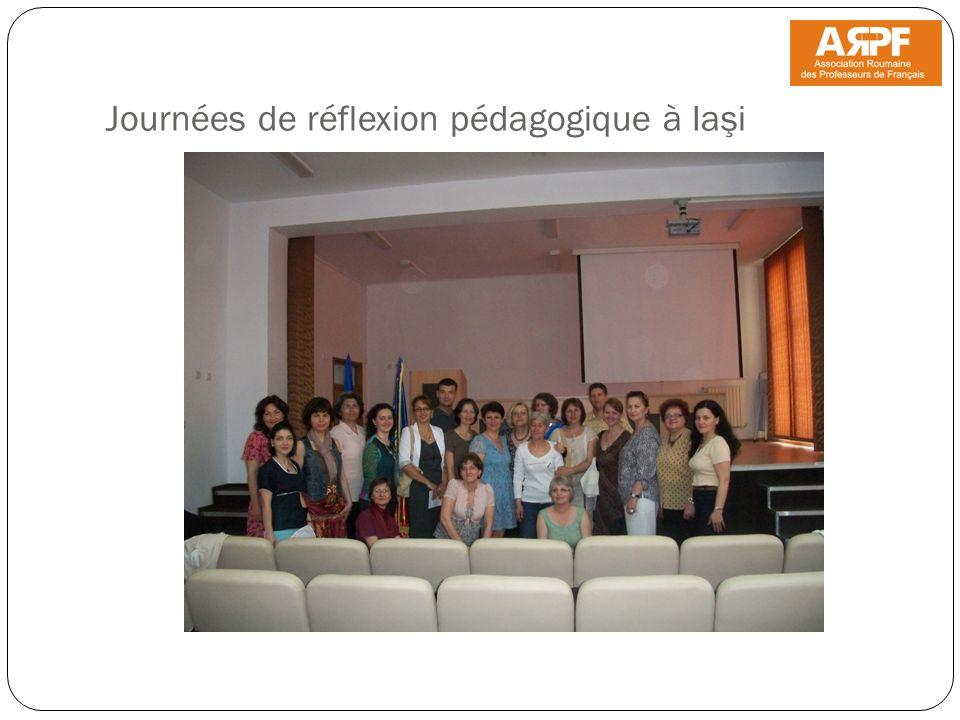 Journées de réflexion pédagogique à Iaşi
