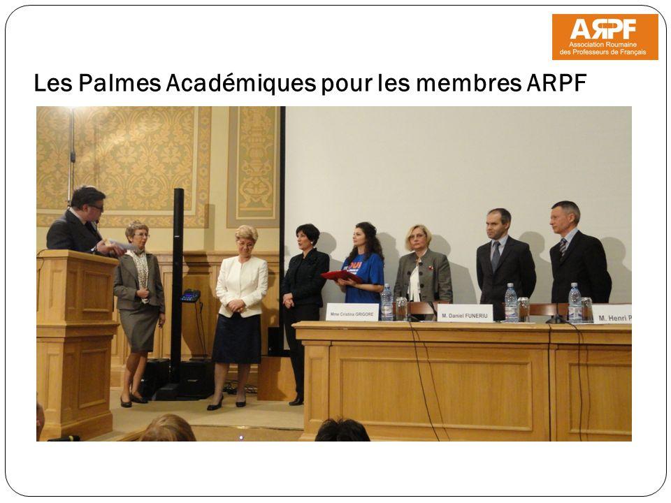 Les Palmes Académiques pour les membres ARPF