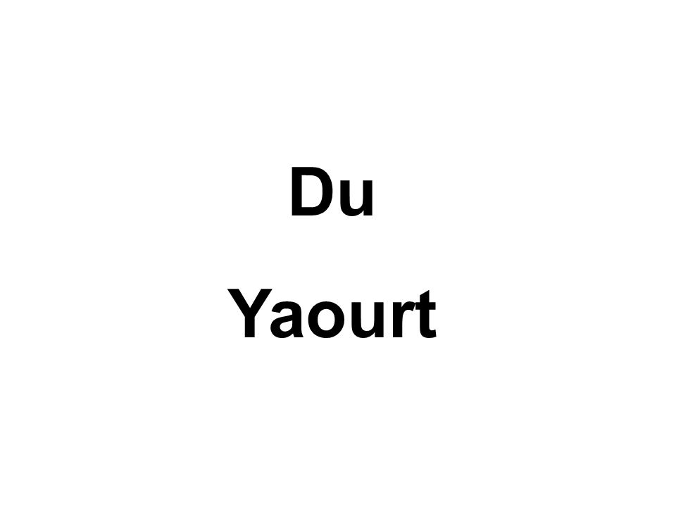 Du Yaourt