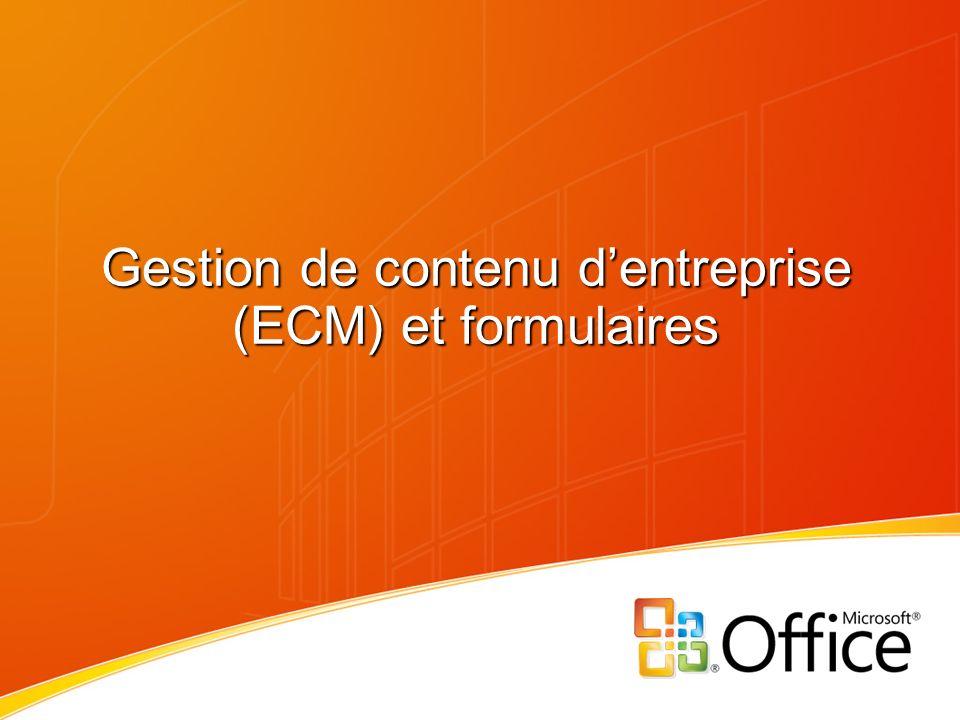 Gestion de contenu dentreprise (ECM) et formulaires