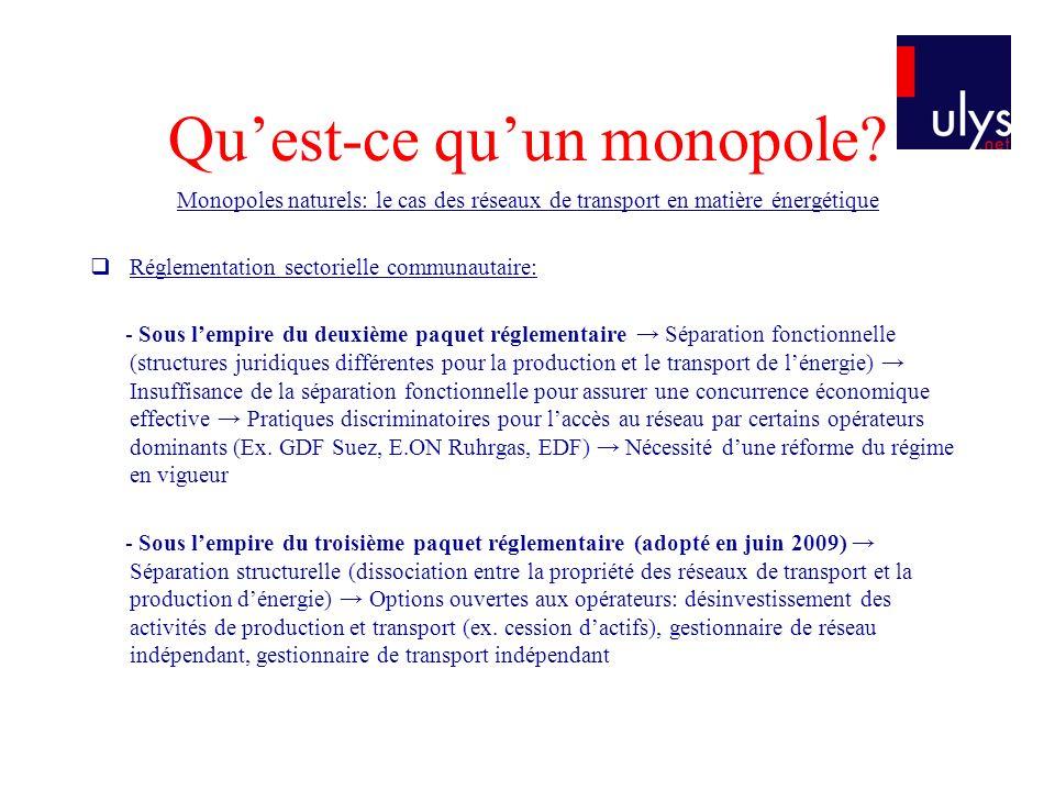 Challenger un monopole Quest-ce quun monopole.