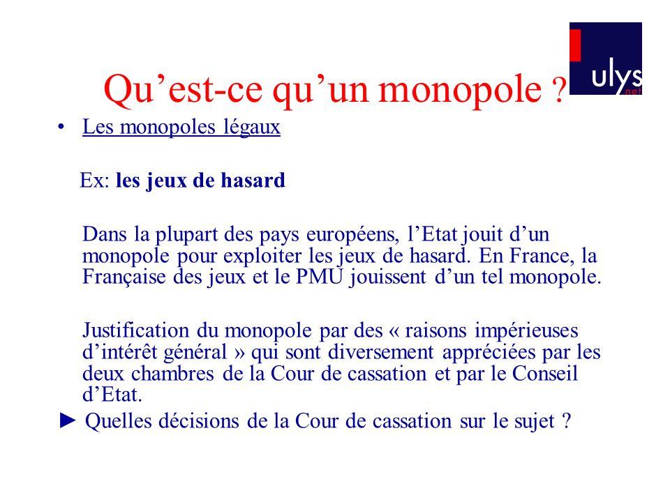 Les principales décisions récentes en droit français Affaire Zeturf : Cass.