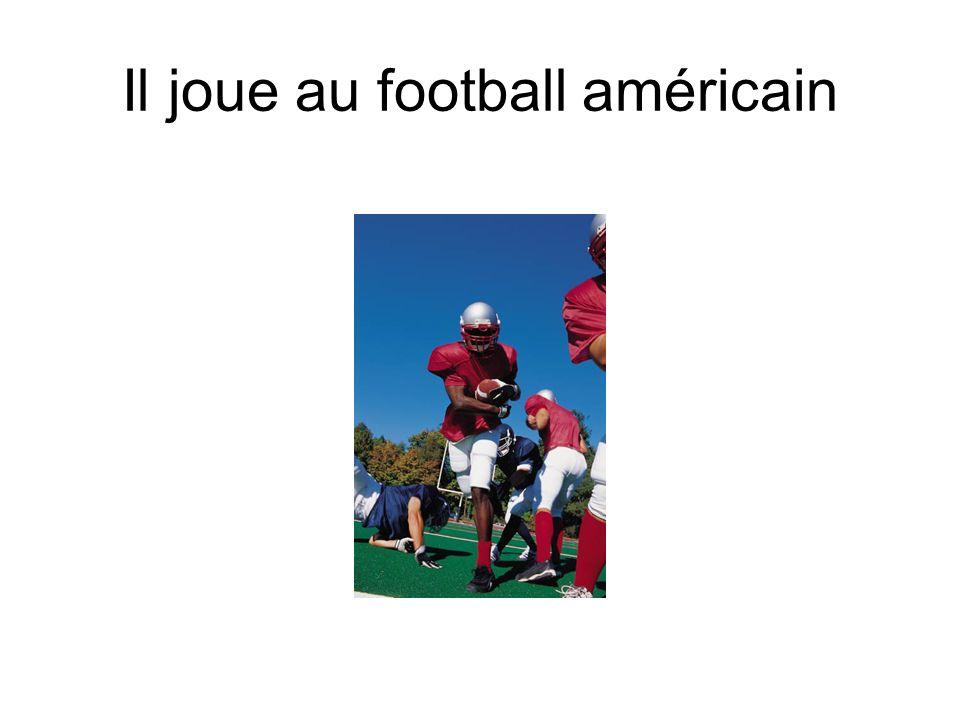 Il joue au football américain